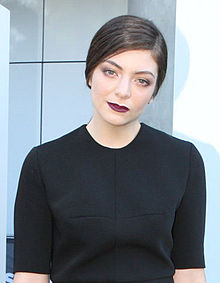Lorde at the 27th Annual ARIA Music Awards, December 2013. Wikipedia commons